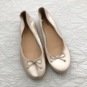 NEW Old Navy Gold Classic Ballet Slipper Flats